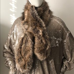 Faux Fur Brown scarf